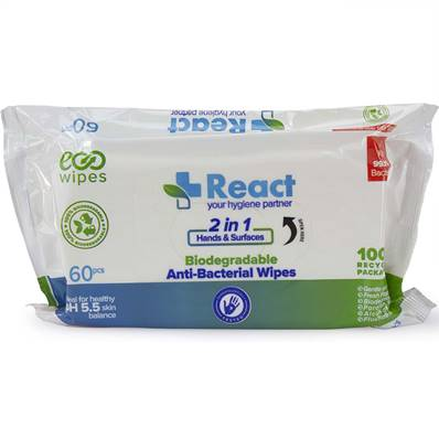 React Antibacterial Wipes