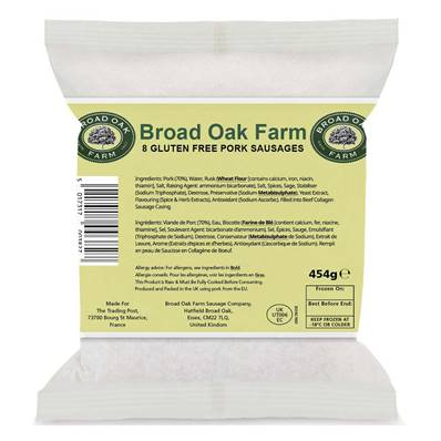 Broad Oak Farm Gluten Free Pork Sausages