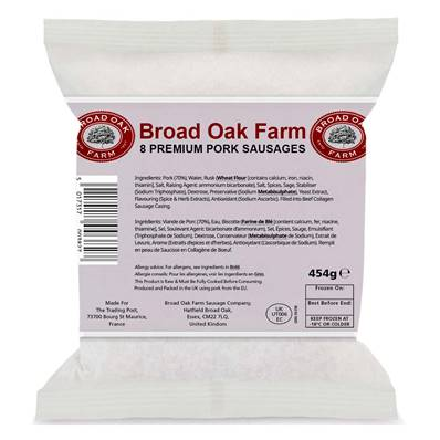 Broad Oak Farm Pork Sausages