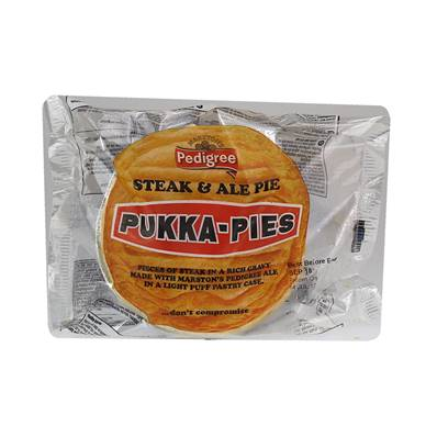 Pukka Pie Large Individually Wrapped Steak & Ale
