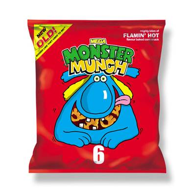 Monster Munch Mega Flamin Hot Box