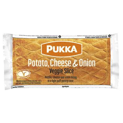 Pukka Large Individually Wrapped Potato, Cheese & Onion Pasty