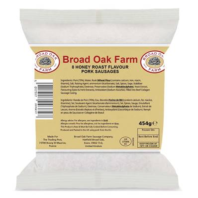 Broad Oak Farm Honey Roast Pork Sausages