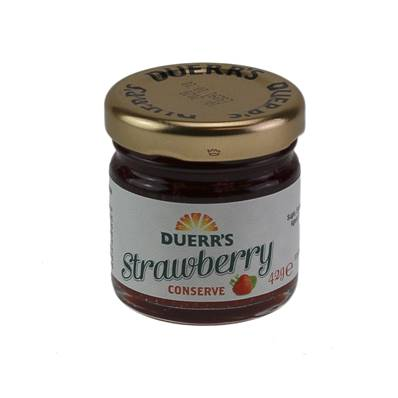 Duerrs Strawberry Jam Glass Portion 24 x 42g
