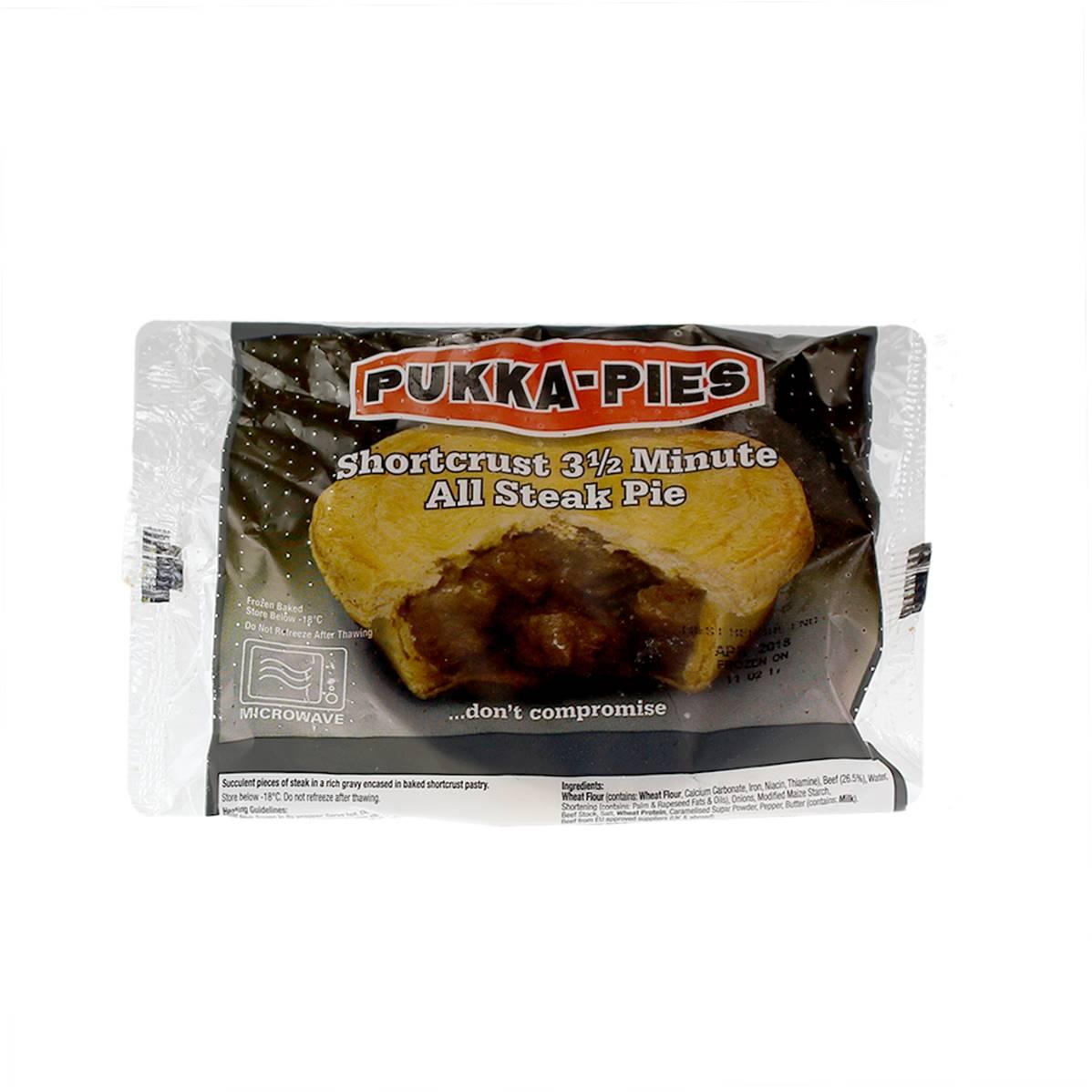 Pukka 3.5min Microwaveable Steak Pie