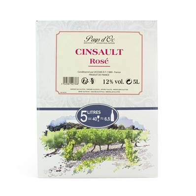 Le 20 D'Ad Cinsault Rose (12%) Bag-in-Box