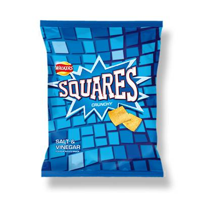 Walkers Squares Salt & Vinegar Box