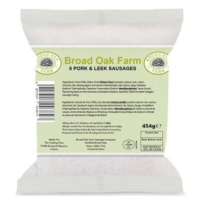 Broad Oak Farm Pork & Leek Sausages