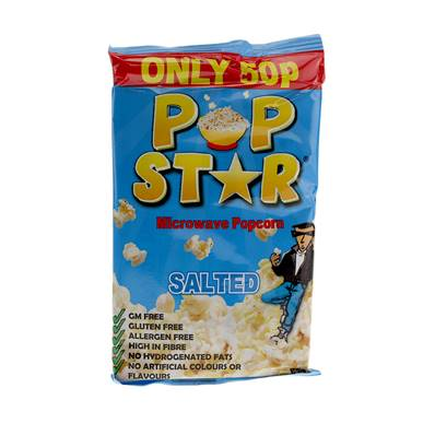 Pop Star Microwave Salted Popcorn