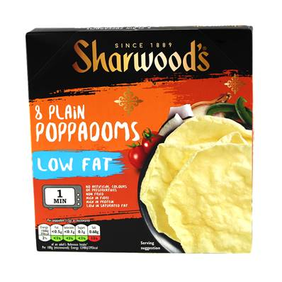 Sharwoods Poppodums Plain