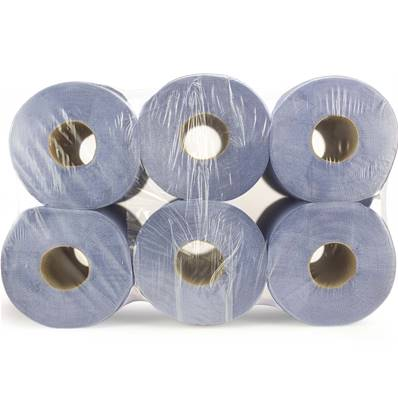 2 Ply Centrefeed Blue Roll 18D (400 Sheets)