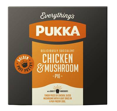 Pukka Pie Large Individually Wrapped Chicken & Mushroom