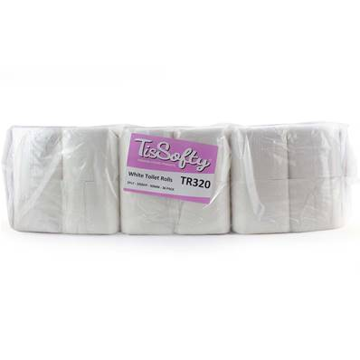 2 Ply Toilet Rolls - Embossed (320 Sheets)