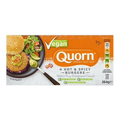 Quorn Vegan Hot n' Spicy Burgers